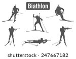 biathlon   winter sports nordic ... | Shutterstock .eps vector #247667182