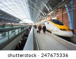 London Train Tube Station Blur...