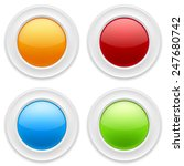 colorful four blank buttons on... | Shutterstock .eps vector #247680742