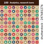 100 analytics  research icons ... | Shutterstock . vector #247681276