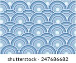 retro circle waves   Shutterstock .eps vector #247686682
