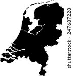 netherlands map | Shutterstock .eps vector #247687228