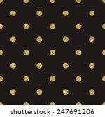 pattern polka dot on black... | Shutterstock .eps vector #247691206