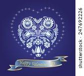 valentine's day background  ... | Shutterstock .eps vector #247692226