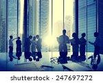 business people talking... | Shutterstock . vector #247697272