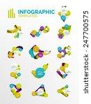 set of modern business... | Shutterstock .eps vector #247700575