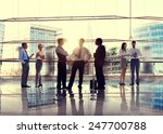 business people talking... | Shutterstock . vector #247700788
