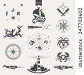 marine style. marine characters. | Shutterstock .eps vector #247703602