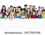 multi ethnic group of children...   Shutterstock . vector #247704796