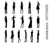 set of haute couture female... | Shutterstock .eps vector #247715452