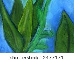 Bright Textured botanical abstract design - stock photo