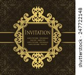 vintage invitation with frame.... | Shutterstock .eps vector #247722148