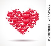 valentine's day card with heart ... | Shutterstock .eps vector #247724272