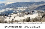 mountain landscape in winter... | Shutterstock . vector #247735126