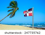 Dominican Republic Flag On The...