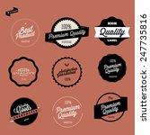 retro premium quality labels set   Shutterstock .eps vector #247735816
