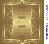 Vintage Invitation On Luxury...
