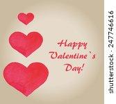 valentine s  day romantic card... | Shutterstock .eps vector #247746616