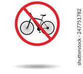 Vector Sign No Bicycle