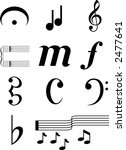 music symbols2 collection of... | Shutterstock .eps vector #2477641