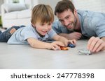 daddy with little boy playing... | Shutterstock . vector #247778398