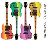 guitar vector music musical... | Shutterstock .eps vector #247781152