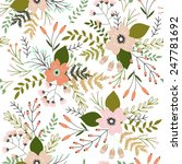 beautiful seamless pattern with ... | Shutterstock .eps vector #247781692