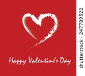 happy valentine's day vector.... | Shutterstock .eps vector #247789522