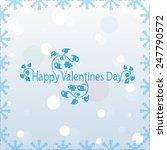 valentine's day card  | Shutterstock .eps vector #247790572