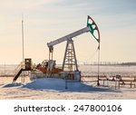 oil pump works on winter forest ... | Shutterstock . vector #247800106