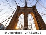 Brooklyn Bridge Sunset With...