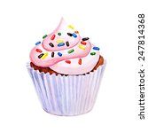 sweet cupcake with colorful... | Shutterstock .eps vector #247814368