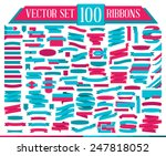 big collection of flat colorful ... | Shutterstock .eps vector #247818052