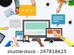 responsive design internet...   Shutterstock . vector #247818625