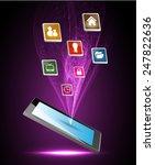 modern conceptual digital... | Shutterstock .eps vector #247822636