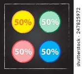 fifty percent  isolated 50  | Shutterstock .eps vector #247825972