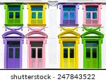 Colorful Windows And White...