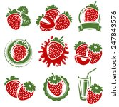 strawberries set. vector | Shutterstock .eps vector #247843576