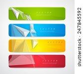 flyer template header design.... | Shutterstock .eps vector #247845592