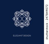 simple and elegant monogram... | Shutterstock .eps vector #247849072