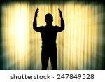 silhouette man pray with light... | Shutterstock . vector #247849528