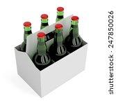 six pack of lager beer bottles... | Shutterstock . vector #247850026