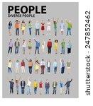 diverse group people standing...   Shutterstock . vector #247852462