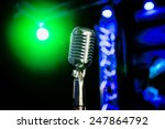 retro microphone on the stage | Shutterstock . vector #247864792