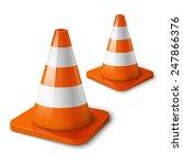 realistic vector   orange road... | Shutterstock .eps vector #247866376
