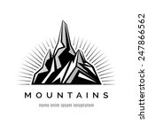 mountains logo for a firm ... | Shutterstock .eps vector #247866562