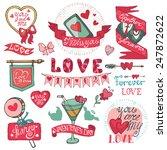 valentine s day wedding love... | Shutterstock .eps vector #247872622