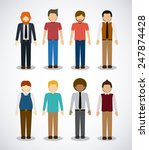 people design over white... | Shutterstock .eps vector #247874428
