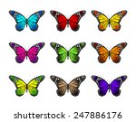 set of realistic colorful... | Shutterstock .eps vector #247886176