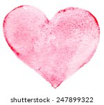 watercolor painted red heart... | Shutterstock . vector #247899322